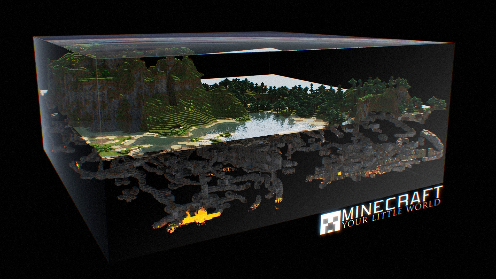 Epic Minecraft Cross Section Wallpaper image   Le Fancy 1920x1080