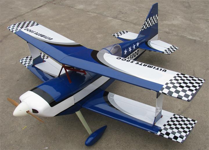 Top Catalog Ultimate 50CC 71 Bipe Biplan RC Airplane ARF Blue 720x516