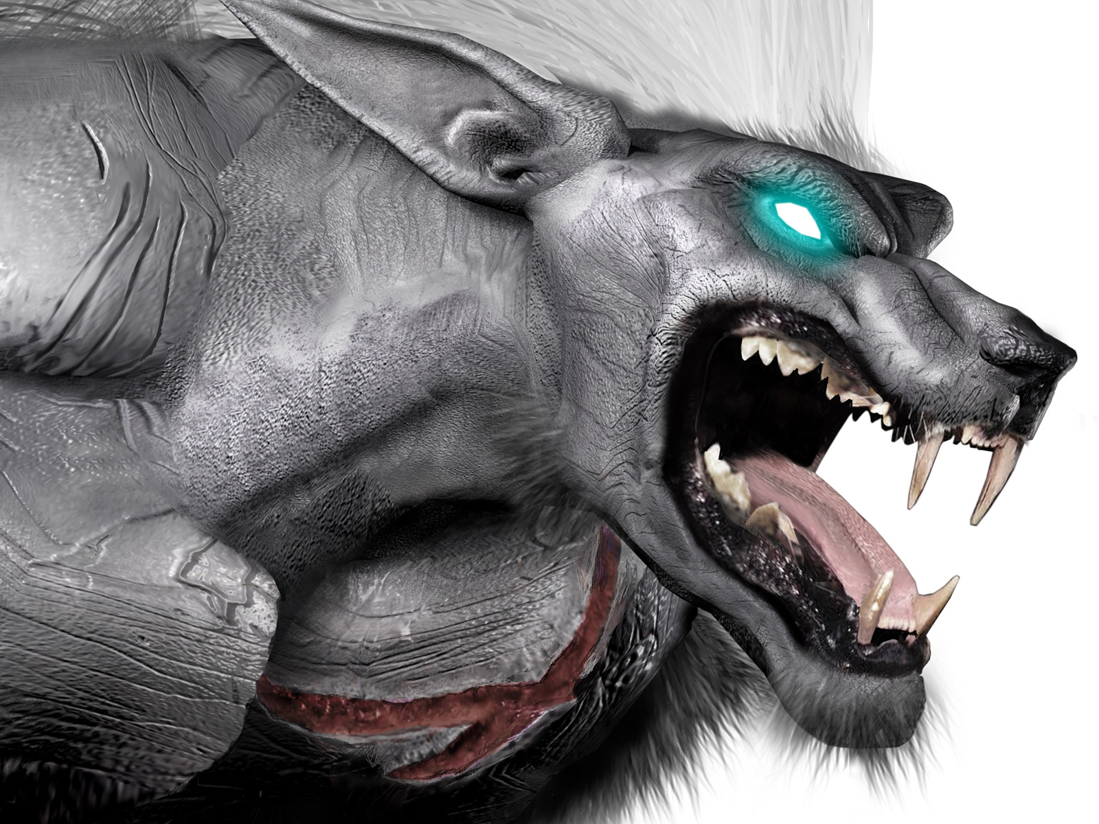 Pics Photos   Red Wolf Beast Hd Wallpaper 1600x1200