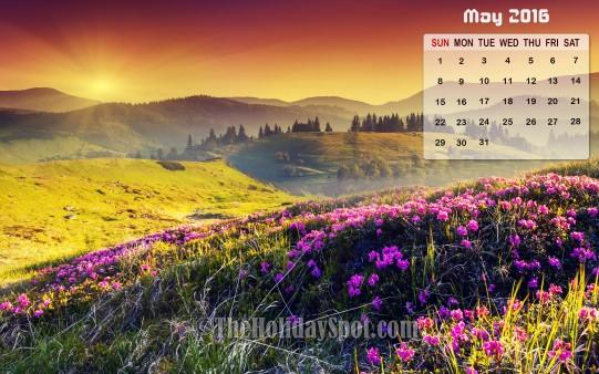 May Calendar Wallpaper 2016   Wallpapers from TheHolidaySpot 541x338