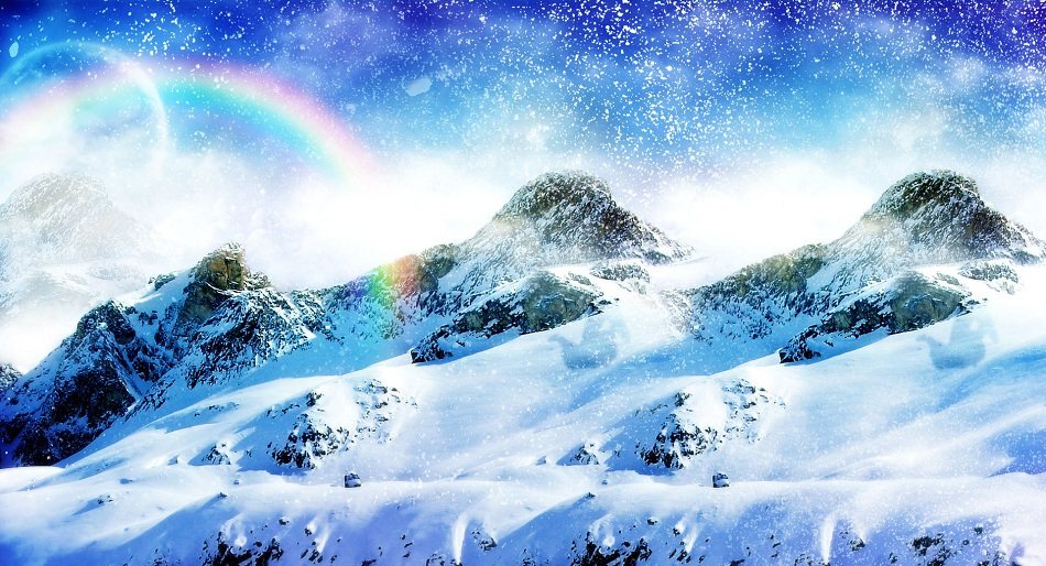 Snow Covered Mountain   50 Best Twitter Backgrounds 950x514