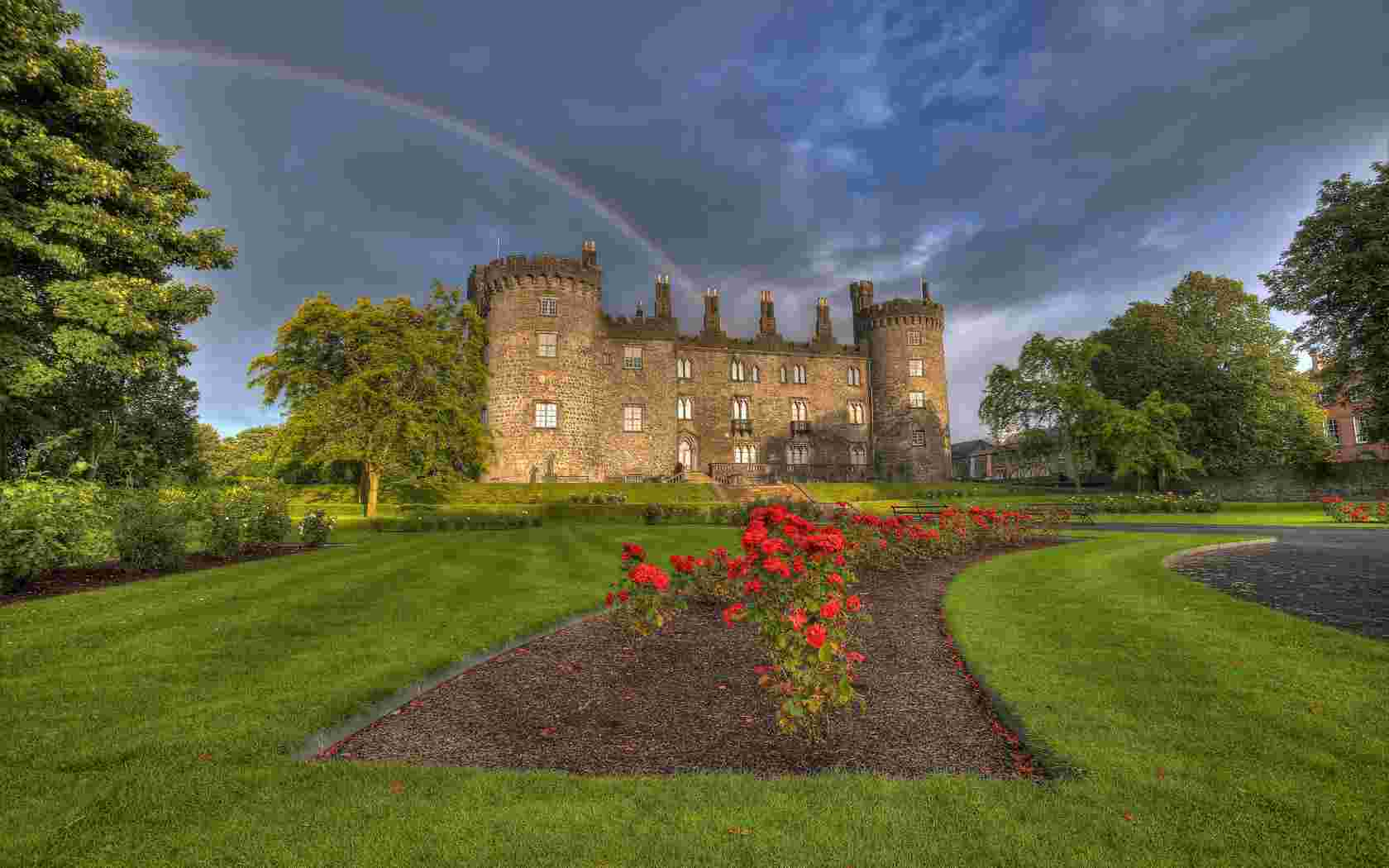 Castle in Ireland wallpaper   Rainbow   Nature   Wallpaper Collection 1680x1050