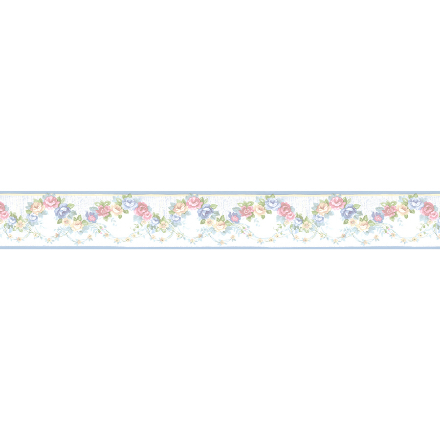 Norwall 4 14 Rose Scallop Prepasted Wallpaper Border at Lowescom 900x900