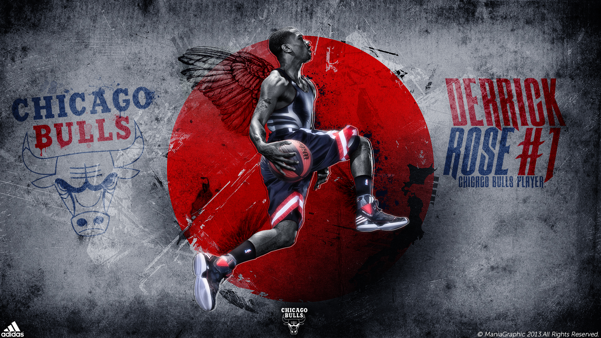 Derrick Rose Wallpaper by ManiaGraphic 1920x1080