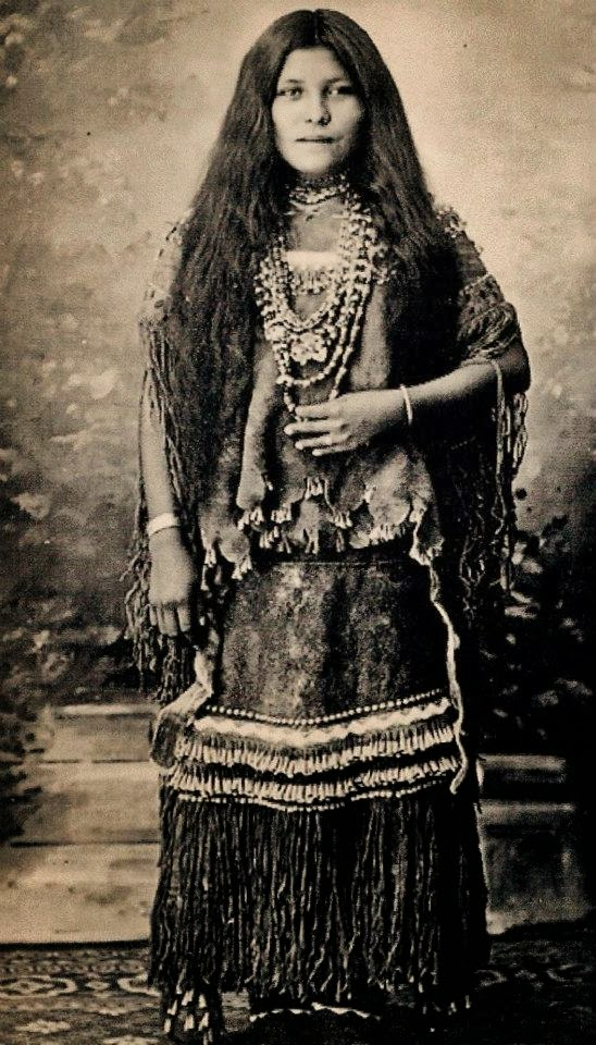 Apache Indian Woman is taken at Fort Still 548x960