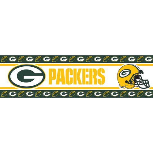 Green Bay Packers NFL Peel and Stick Wall Border 500x500