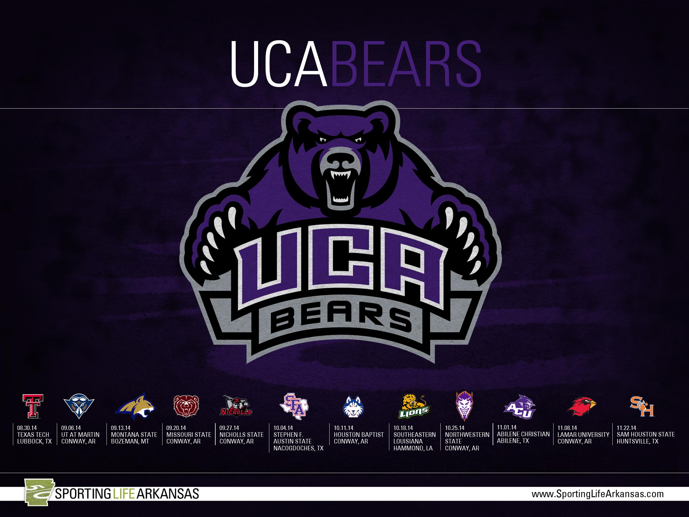 2014 UCA Bears Football Schedule Wallpaper 2400x1800