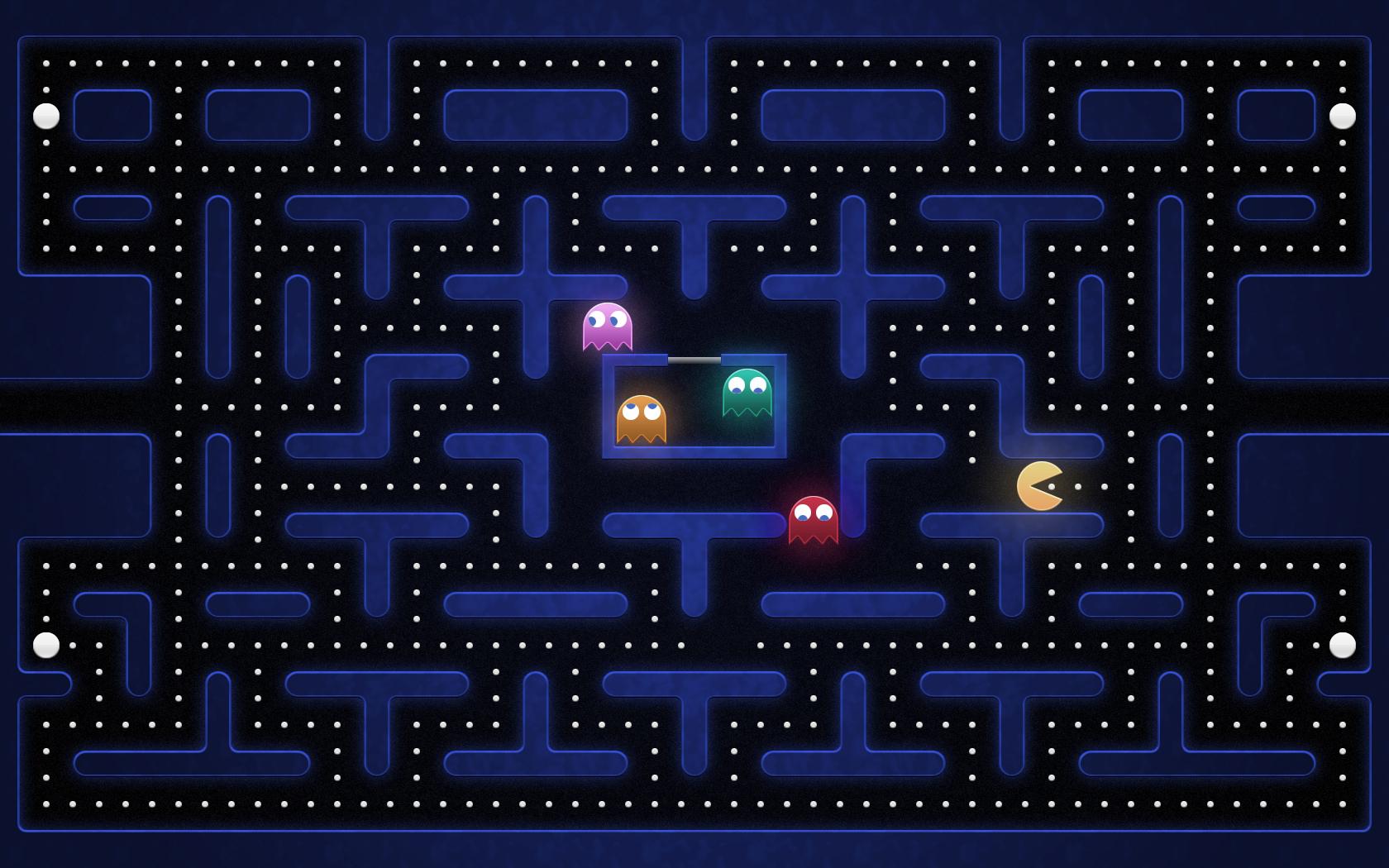 Pac Man Grid 1680x1050