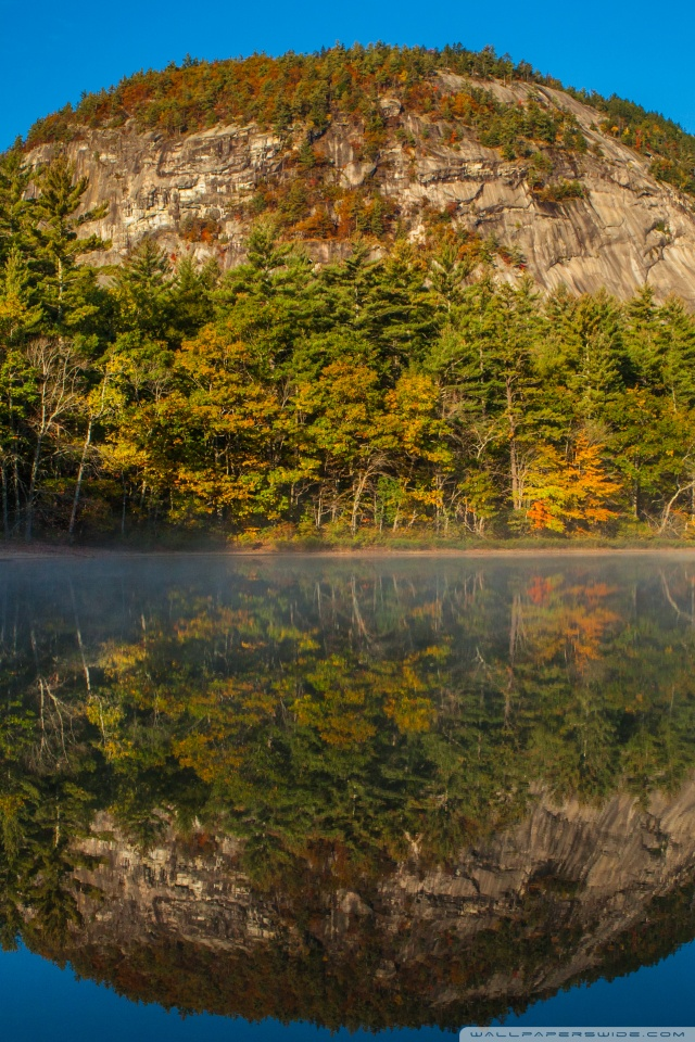 Echo Lake White Mountains New Hampshire 4K HD Desktop 640x960