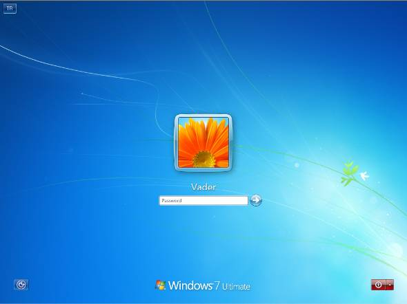 the new logon background which is prepared by Microsoft for Windows 7 590x442