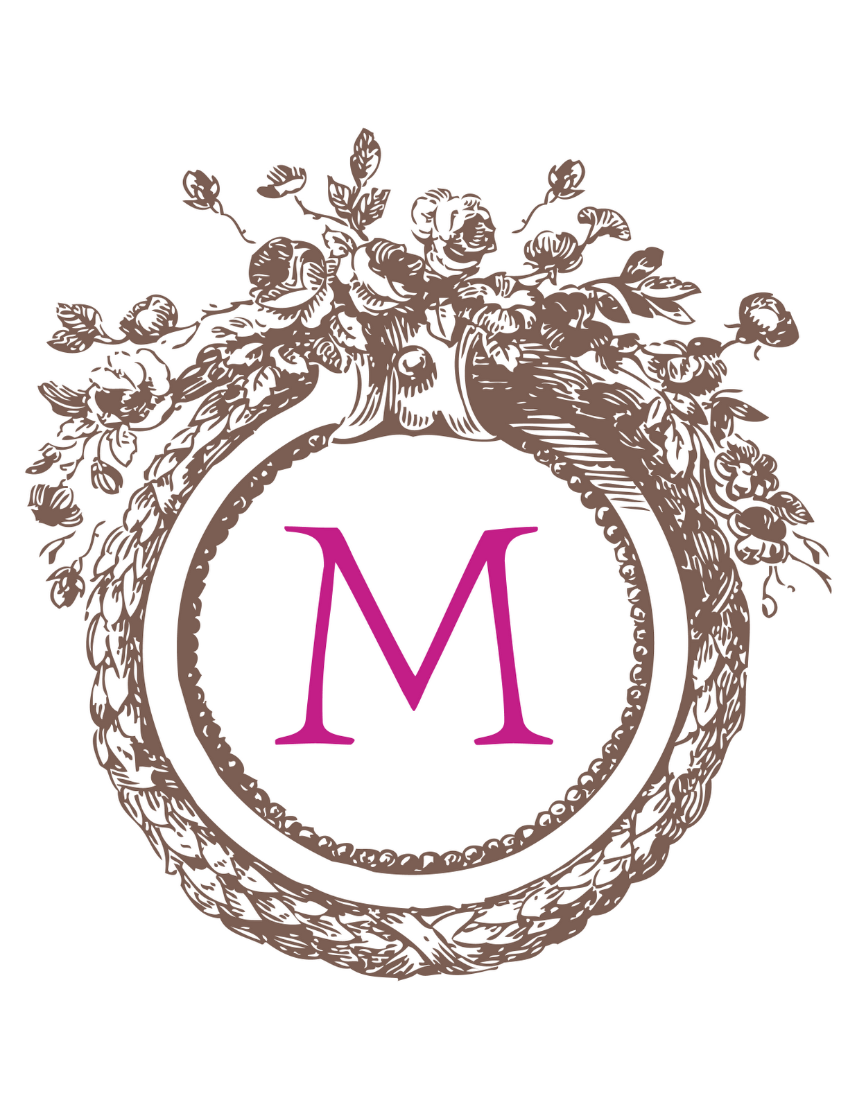found these custom monograms through The Thriftary s blog 1236x1600
