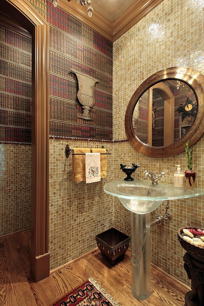 How do you like the bookshelf wallpaper For me this powder room is 667x1000