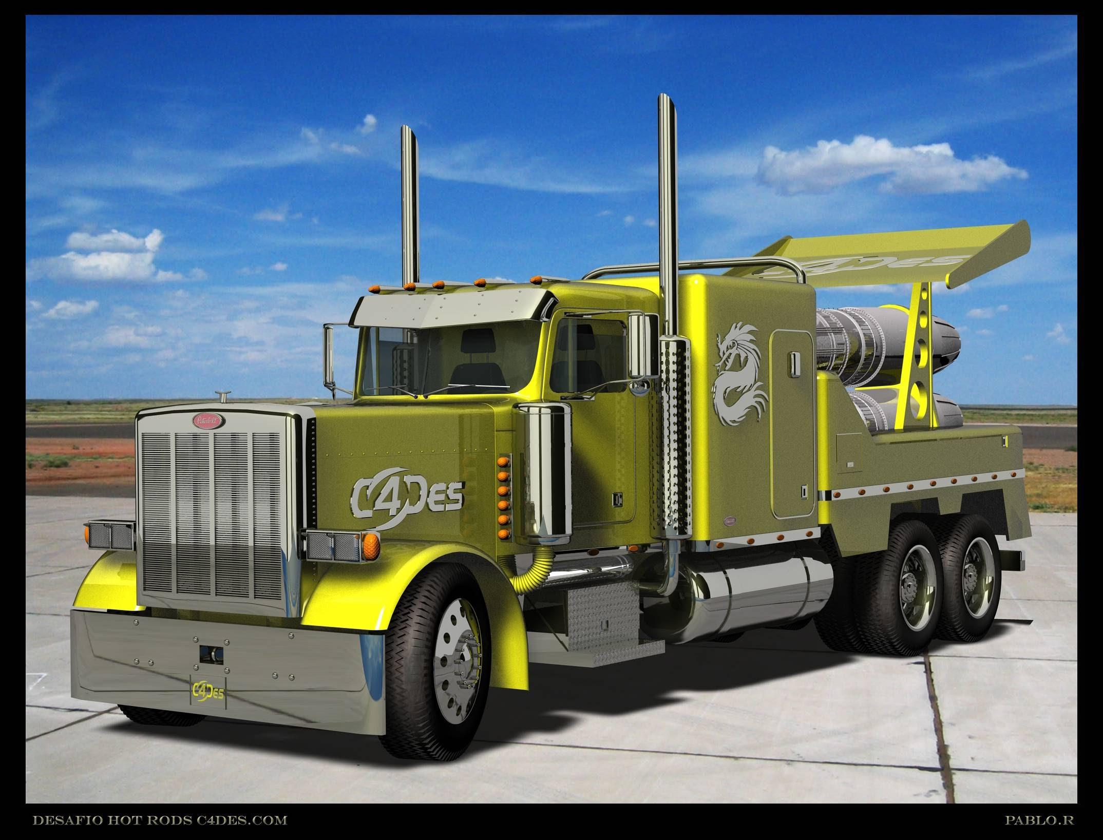 Peterbilt semi trucks tractor rigs jets racing wallpaper background 2148x1636