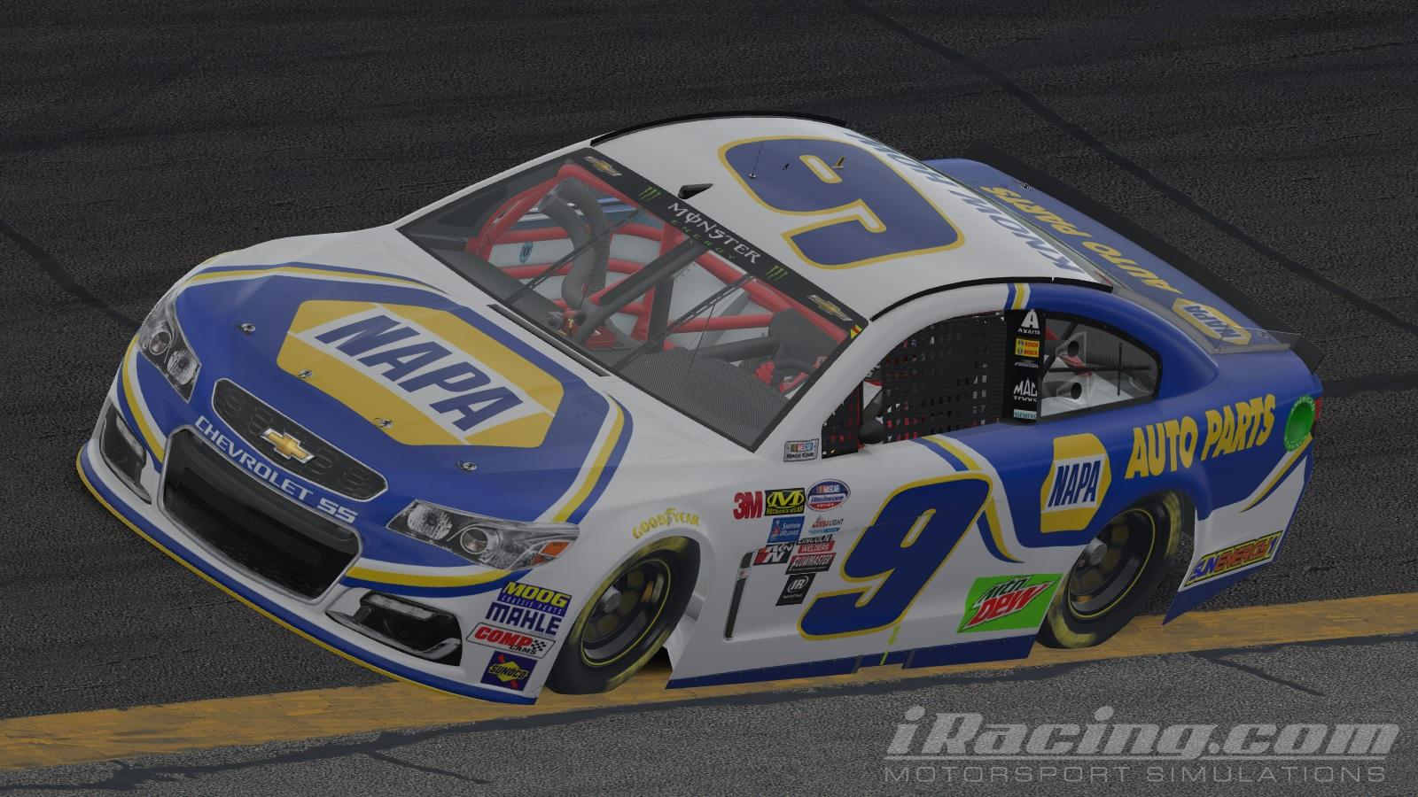 download Chase Elliott NAPA 2018 by Will Norton Trading 1600x900