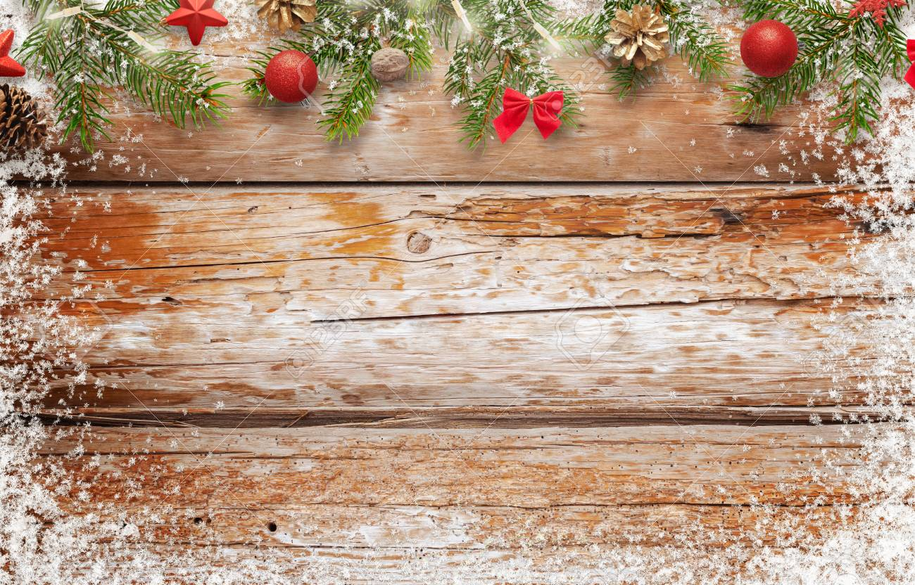 Christmas Background Image Wooden Table With Space For 1300x832