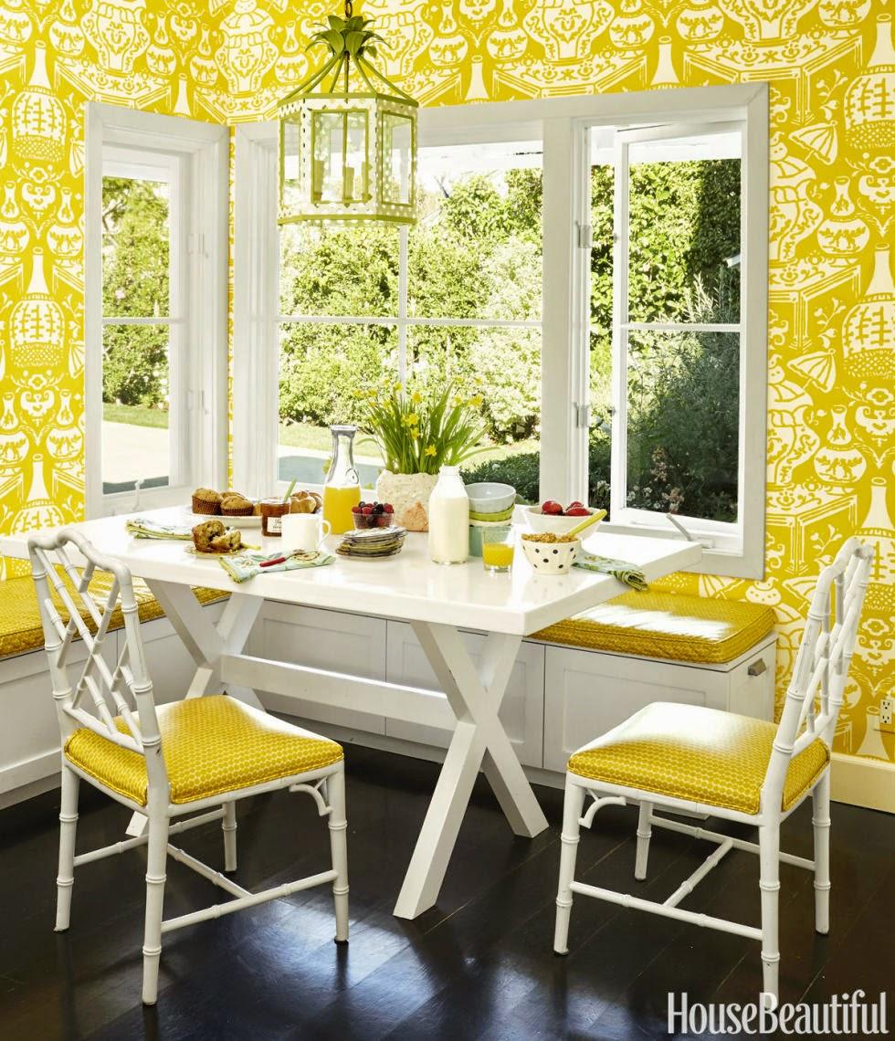 gallery 06 hbx clarence house vase wallpaper yellow kitchen breakfast 980x1140