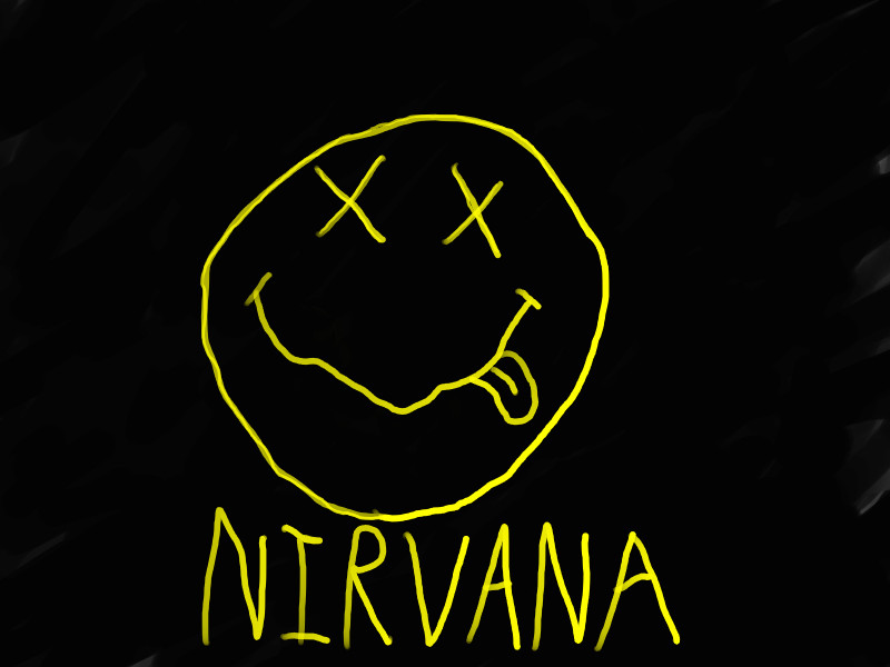 Nirvana Smiley Wallpaper Nirvana logo rendition by 800x600