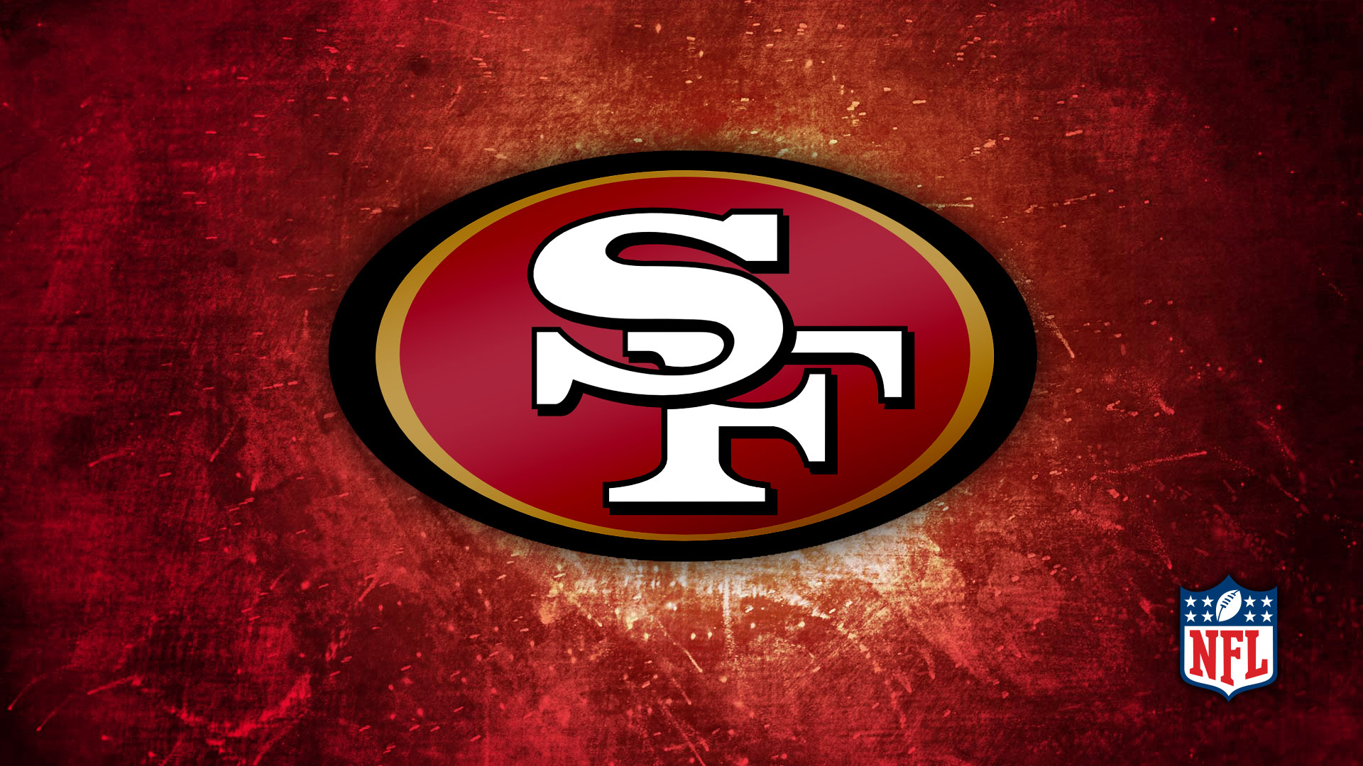 49ers Red Gold Logo 1920x1080 HD Image Sports NFL Football 1920x1080