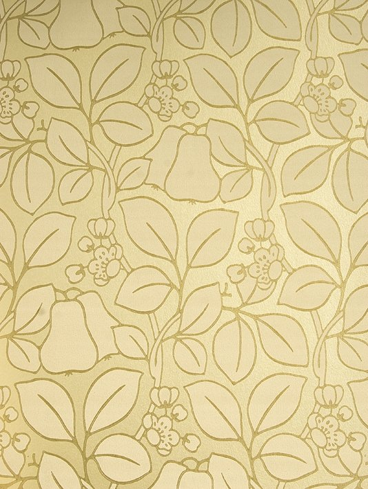 Gold Floral Wallpaper Pears Wallpaper GPJ Baker Holcott 2011 534x709