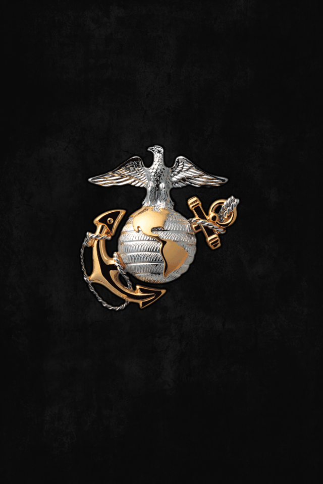 Marine Corps Logo Wallpaper Usmc Marine corps iphone wallpaper 640x960