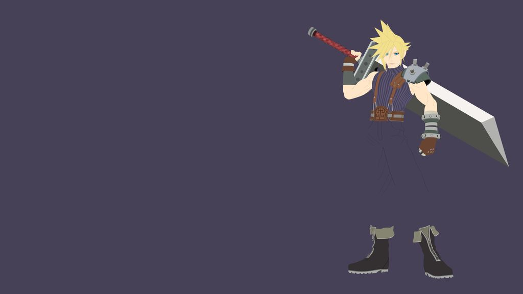 Free Download Cloud Strife Minimalist Wallpaper By Brulescorrupted
