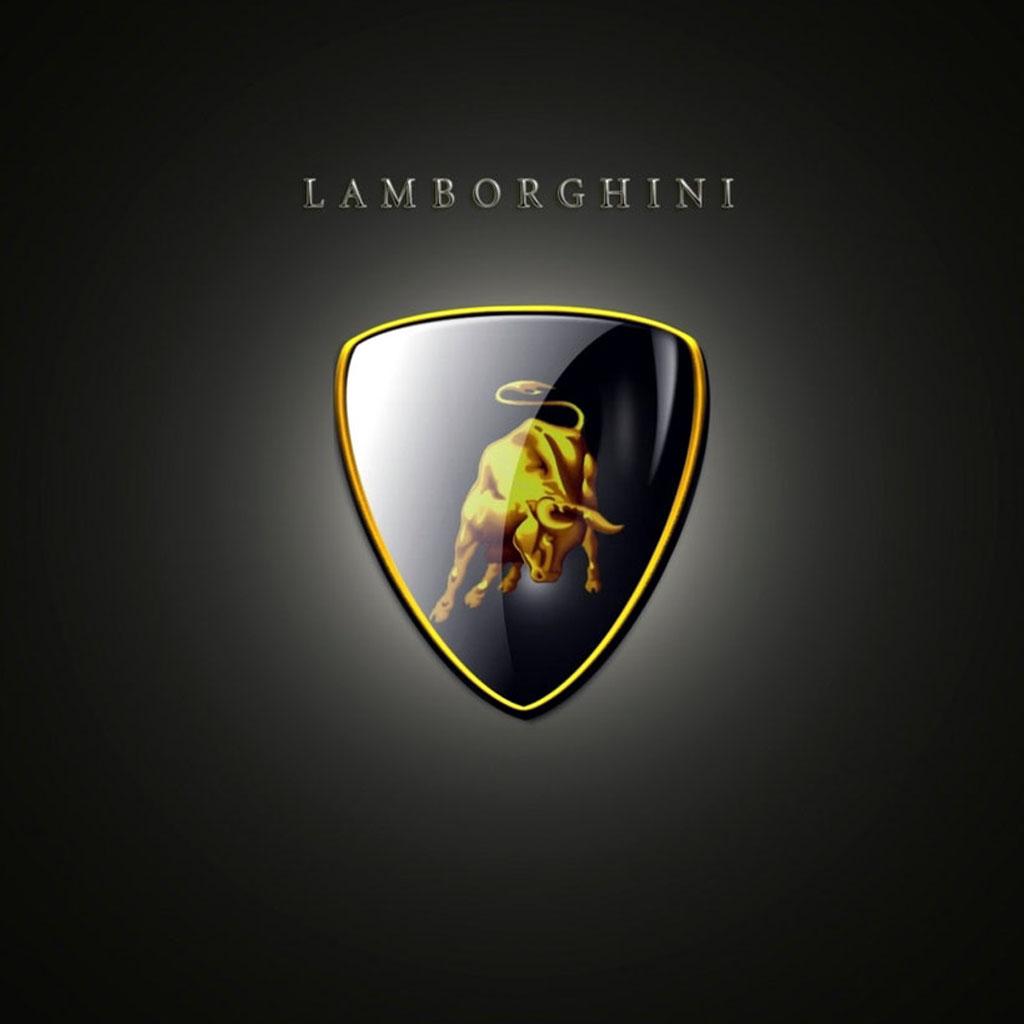 Wallpapers for iPad Lamborghini logo 1024x1024
