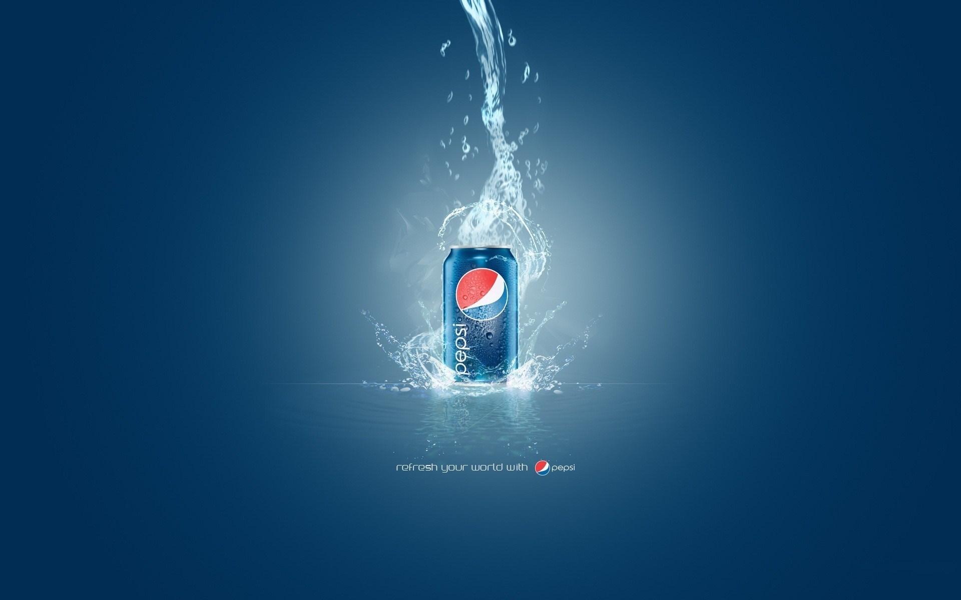 Pepsi Can Water Splash Logo Desktop Wallpaper Download 1920x1200
