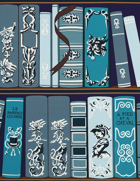 The Bibliothque pattern is Hermss first wallpaper collection 465x600