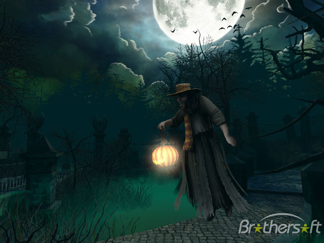 Free animated haunted house wallpaper wallpapersafari - Scary halloween screensavers animated ...