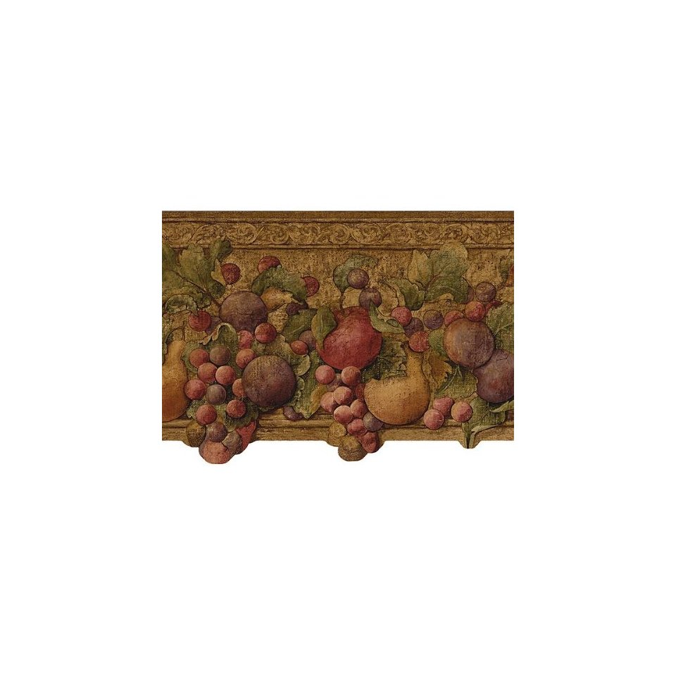 Plum Fruit Grapes Wallpaper Border Kitchen Dining 960x960