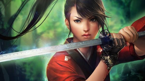 Wallpaper Samurai Girl   Wallpapers HD Download Desktop HD 600x338