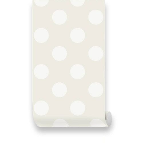 Polka Dot Off White Beige Removable Wallpaper Peel by WallPlays 38 500x500