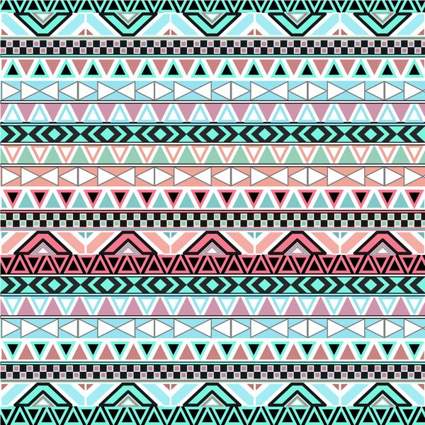 Pink Cute Abstract Aztec Pattern Wallpaper wallpaper 600x600