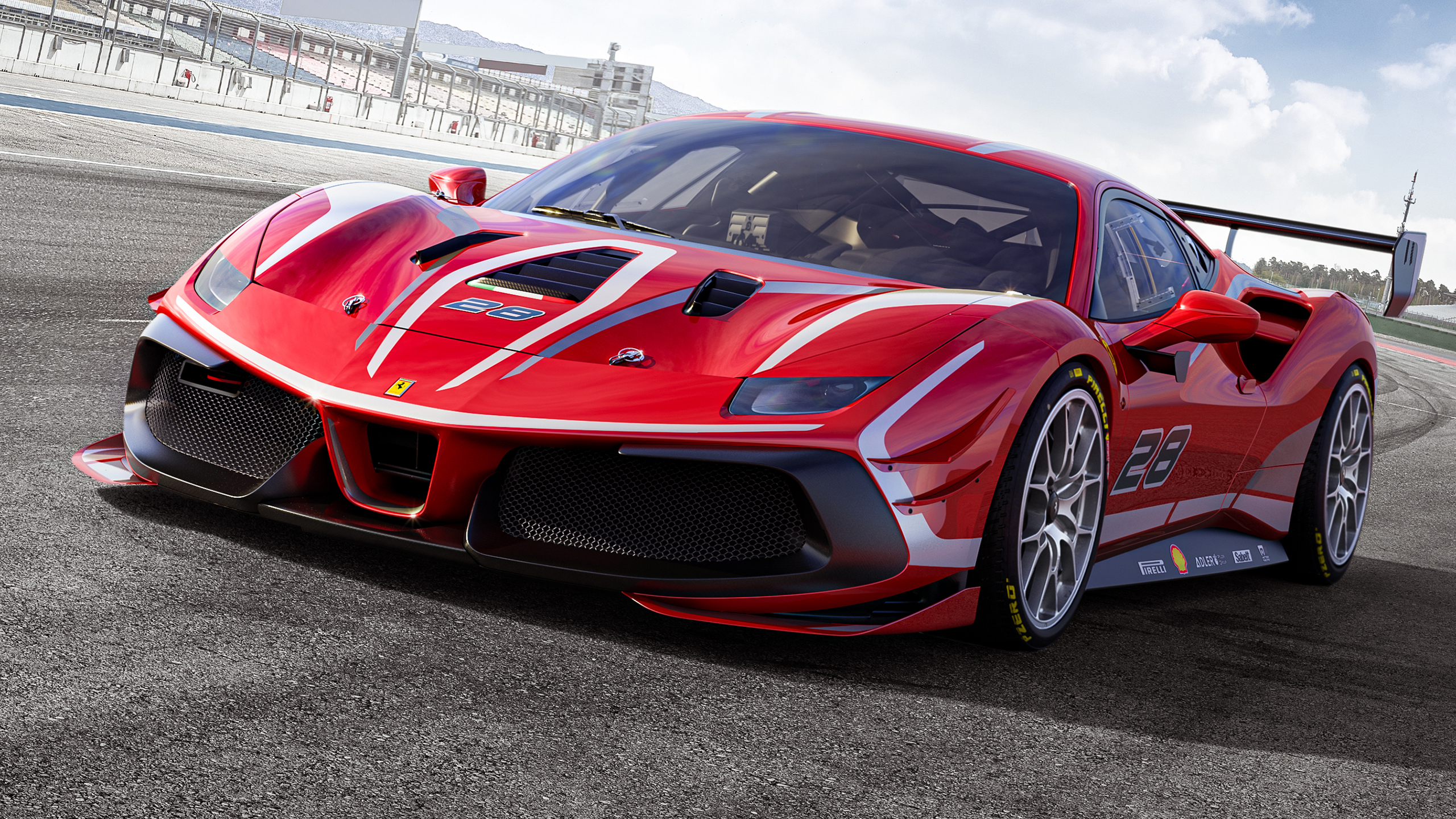 Ferrari 488 Challenge Evo 2020 2 Wallpaper HD Car Wallpapers 2560x1440