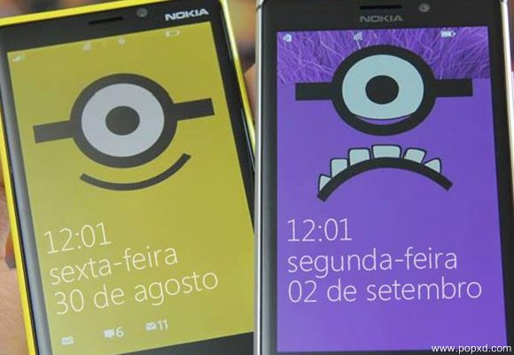 Wallpapers dos Minions para Windows Phone Android e iPhone   POPXD 580x400