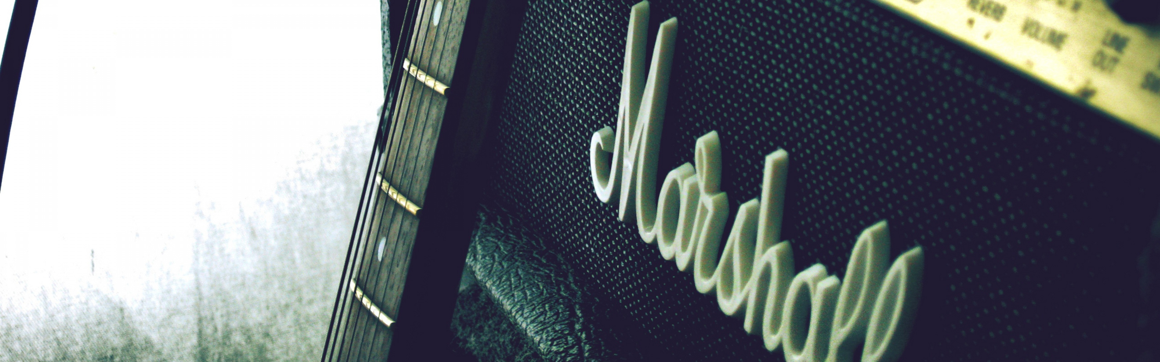 3840x1200 Wallpaper marshall amp guitar 3840x1200