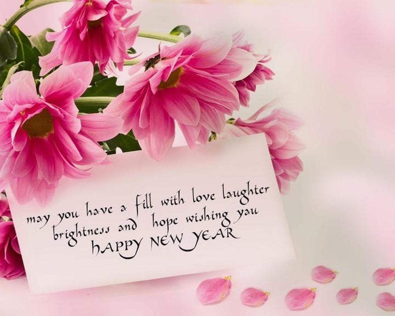 Happy New Year 2020 Rose Flowers Love Wallpapers Hd 5120x2880 1280x1024