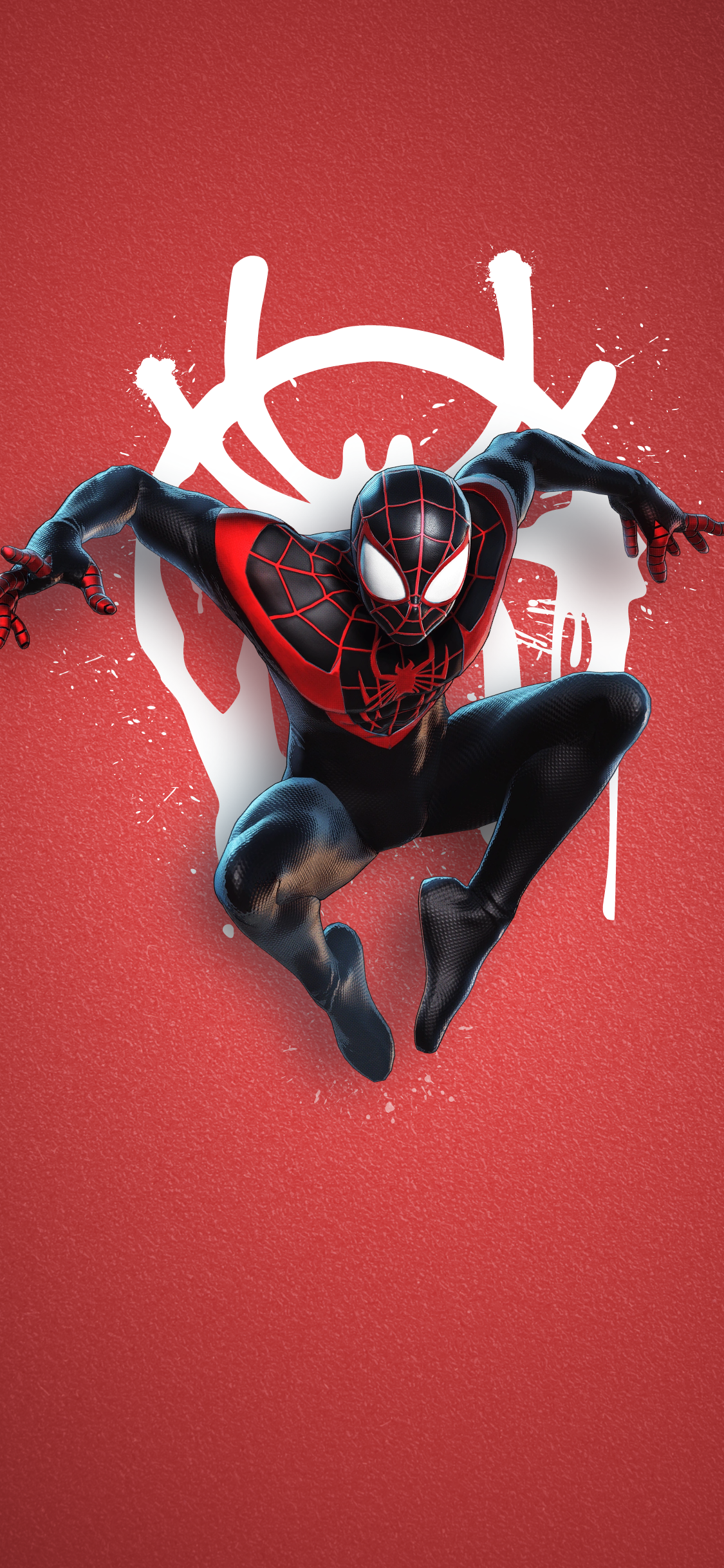 Playstation 5   Spiderman Miles Morales Marvel spiderman art 1125x2436