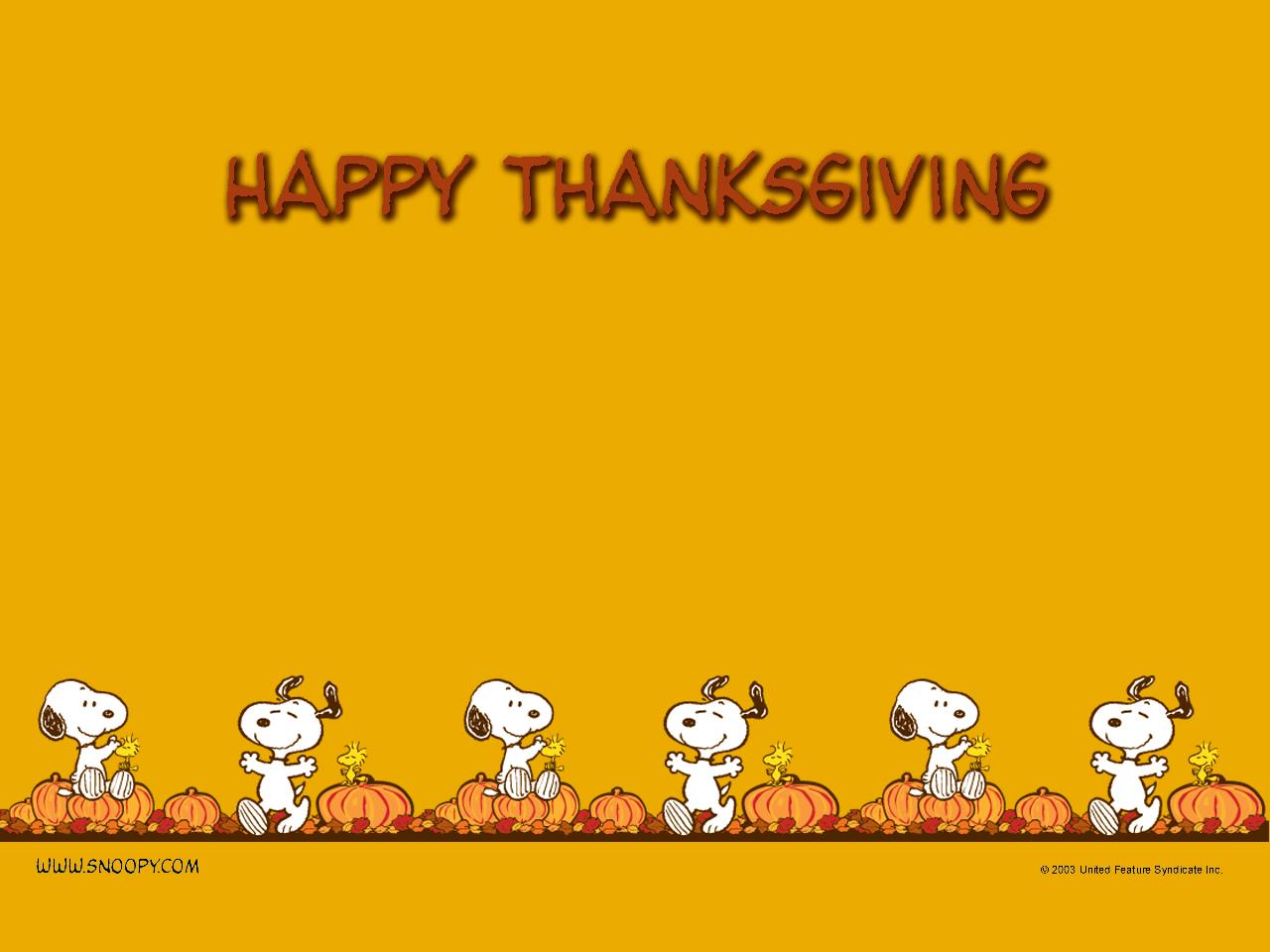 Peanuts Thanksgiving 1280x960