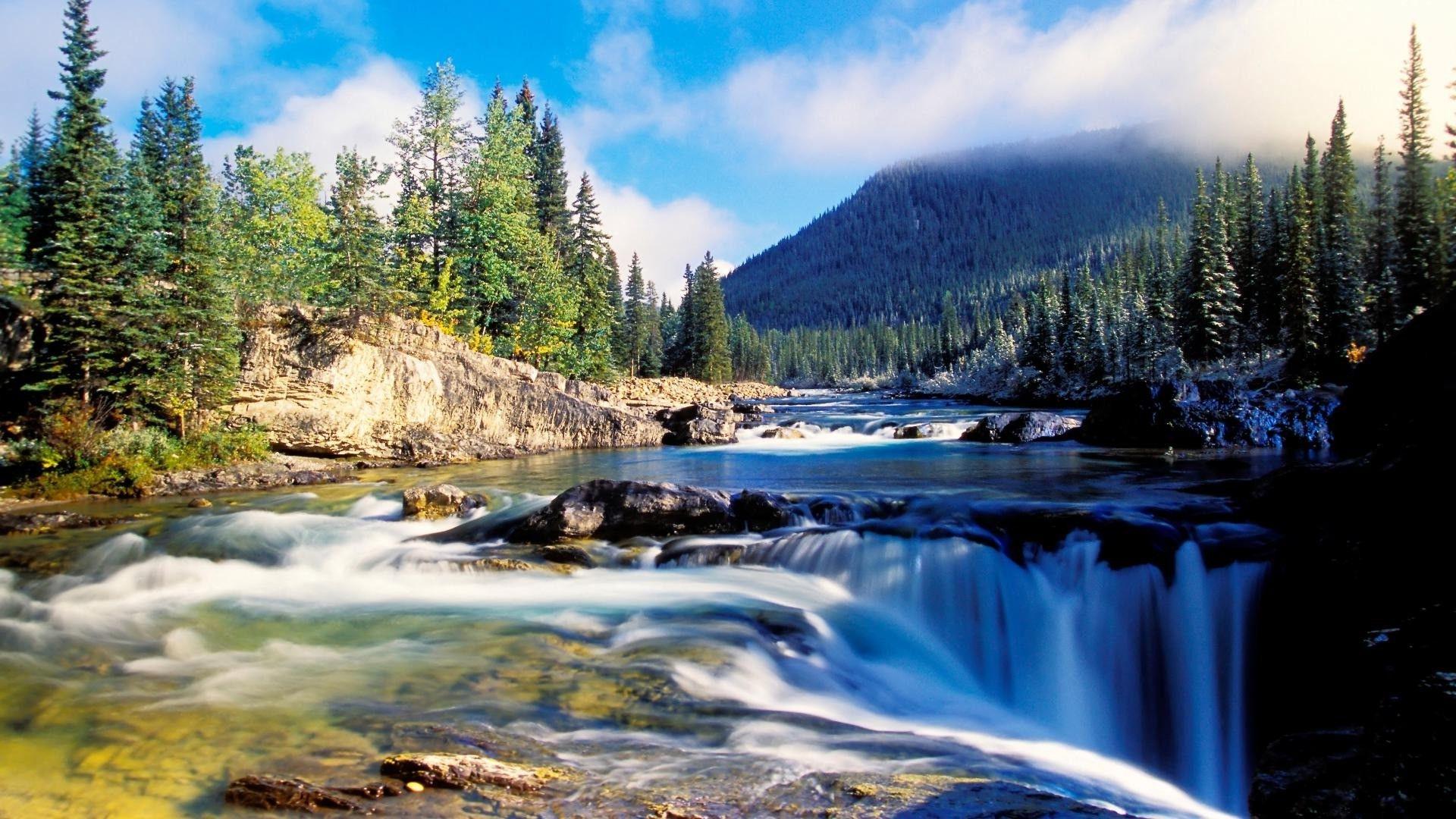 Водопад река  № 740927 загрузить