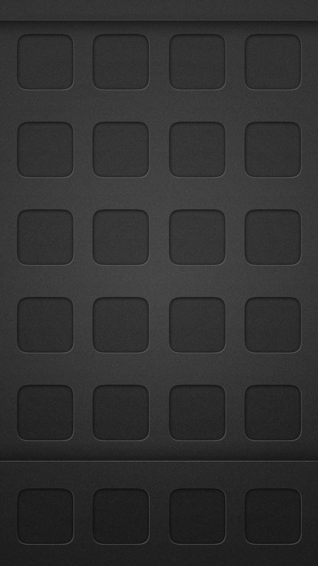 Dark Black App Grid Homescreen 640x1136