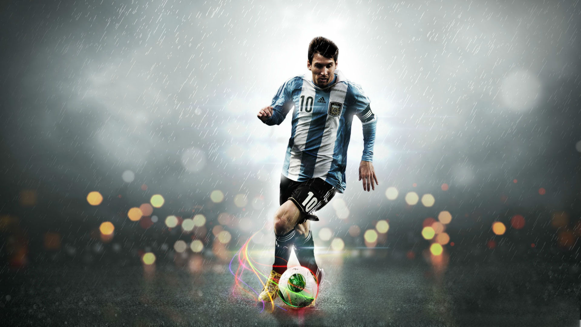 Famous Soccer Messi Football Playing Wallpaper HD 1920x1080