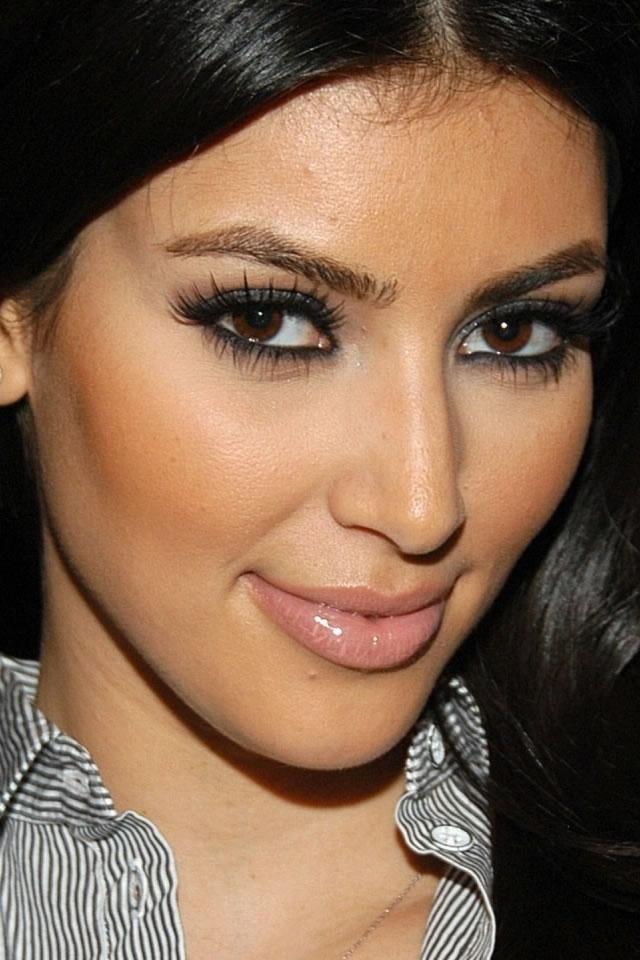 Kim Kardashian Beautiful Eyes iPhone Wallpaper Kim Kardashian 640x960