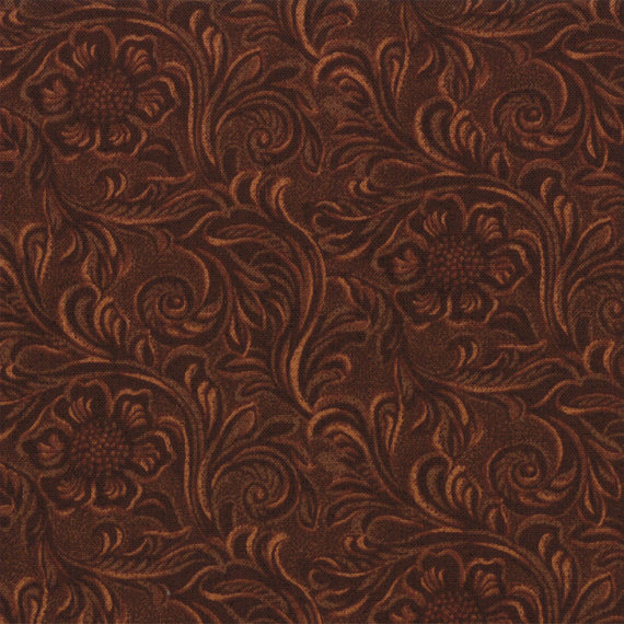 TOOLED LEATHER cotton quilt fabric Moda King of the Ranch Americana 570x570