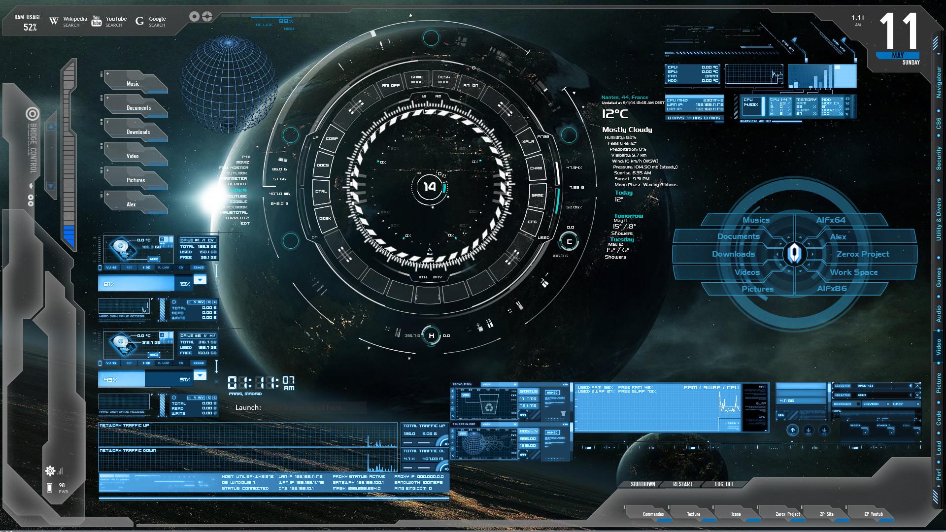 Blue Tech Wallpaper