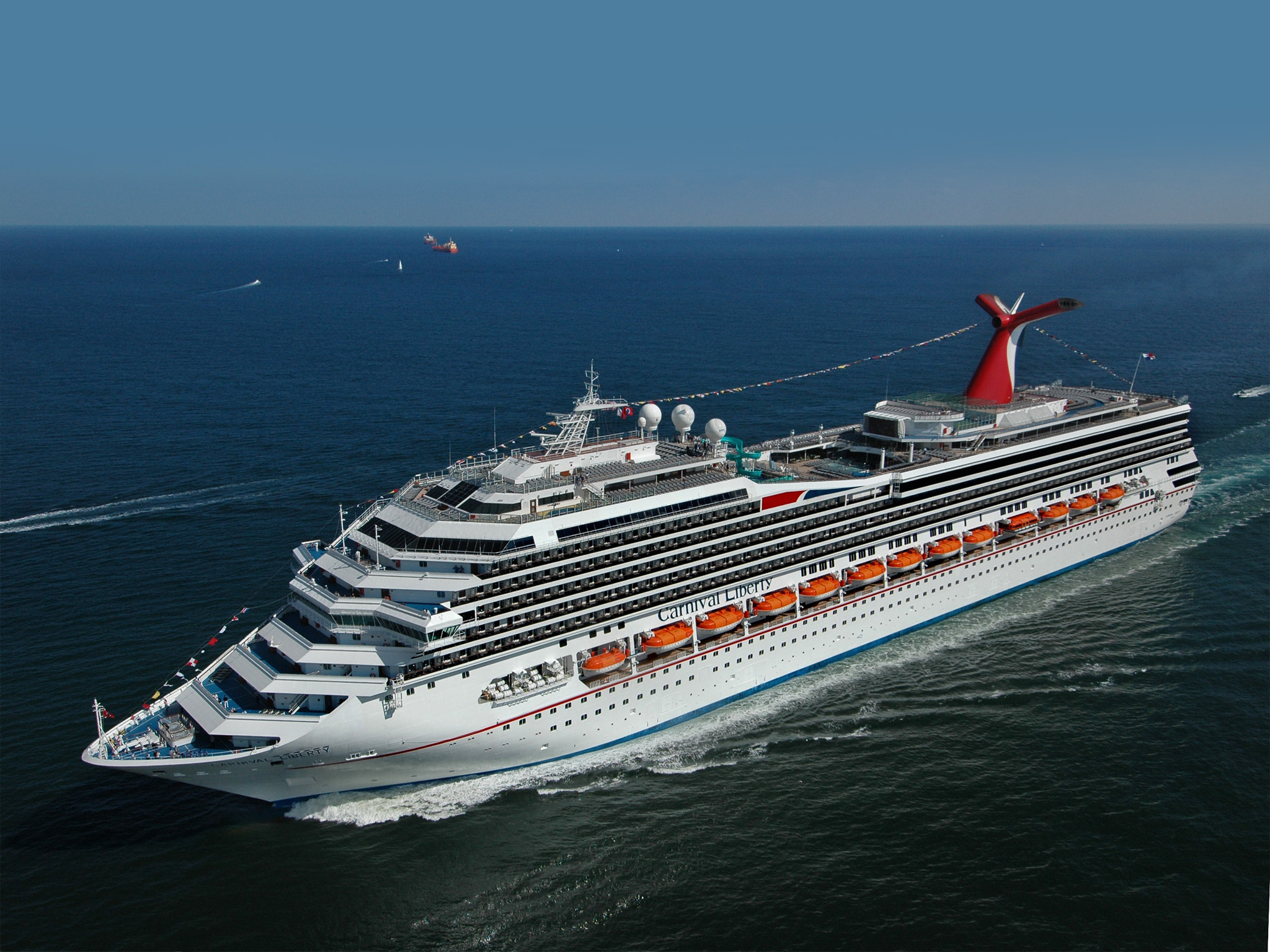 Wallpaper Carnival Liberty Carnival cruise ship ship ocean desktop 2048x1536