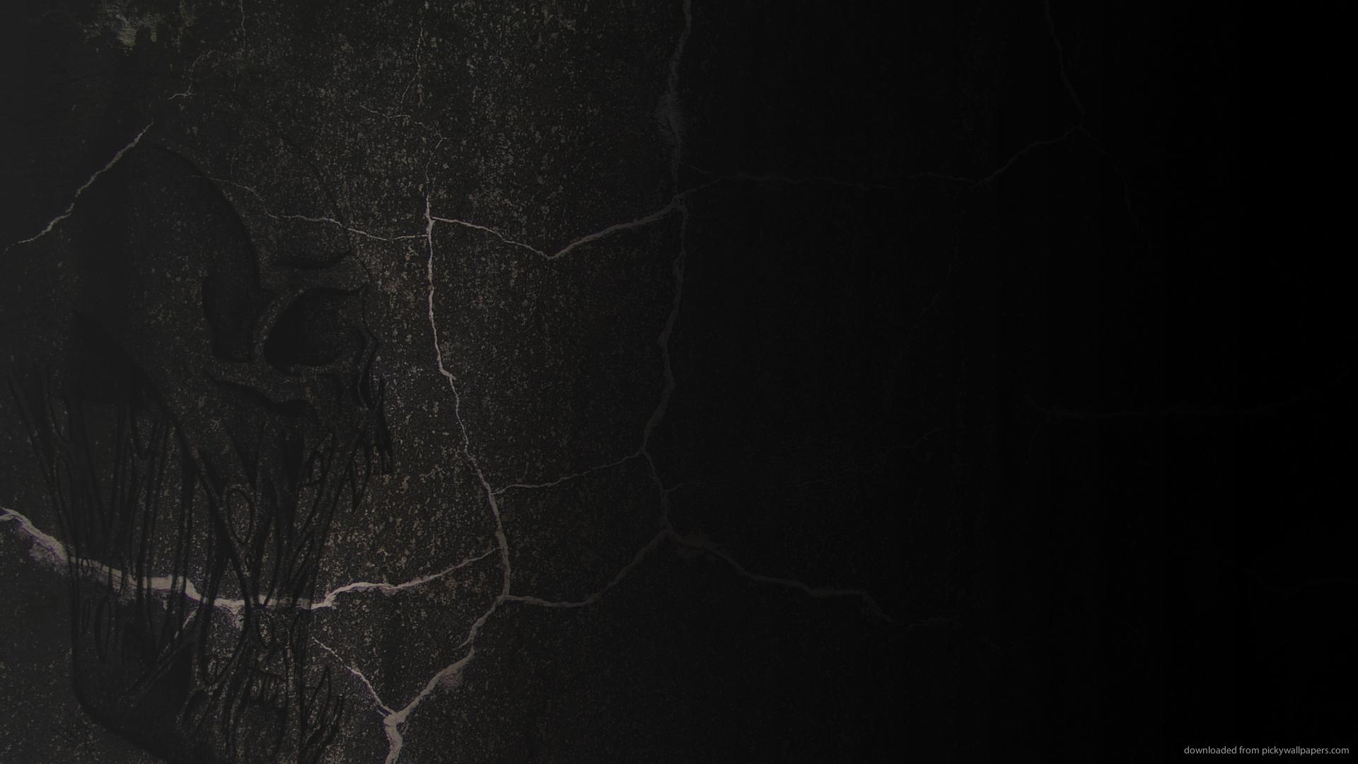 Download 1920x1080 Skull On Black Stone Wallpaper 1920x1080