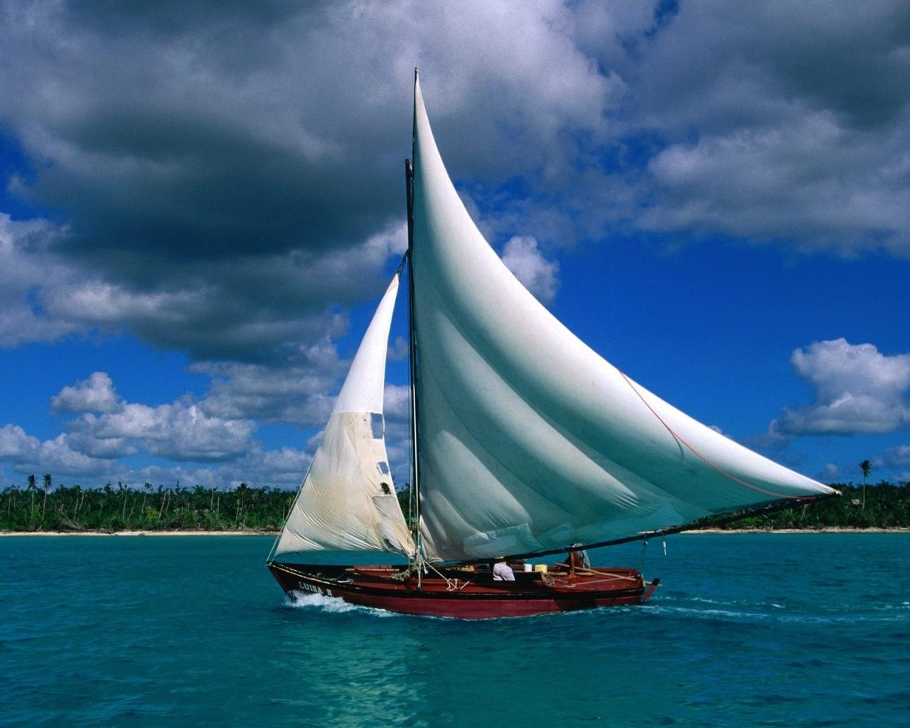 Fishing Sailboat Dominican Republic 1280x1024 pixel Hd Wallpaper 1280x1024