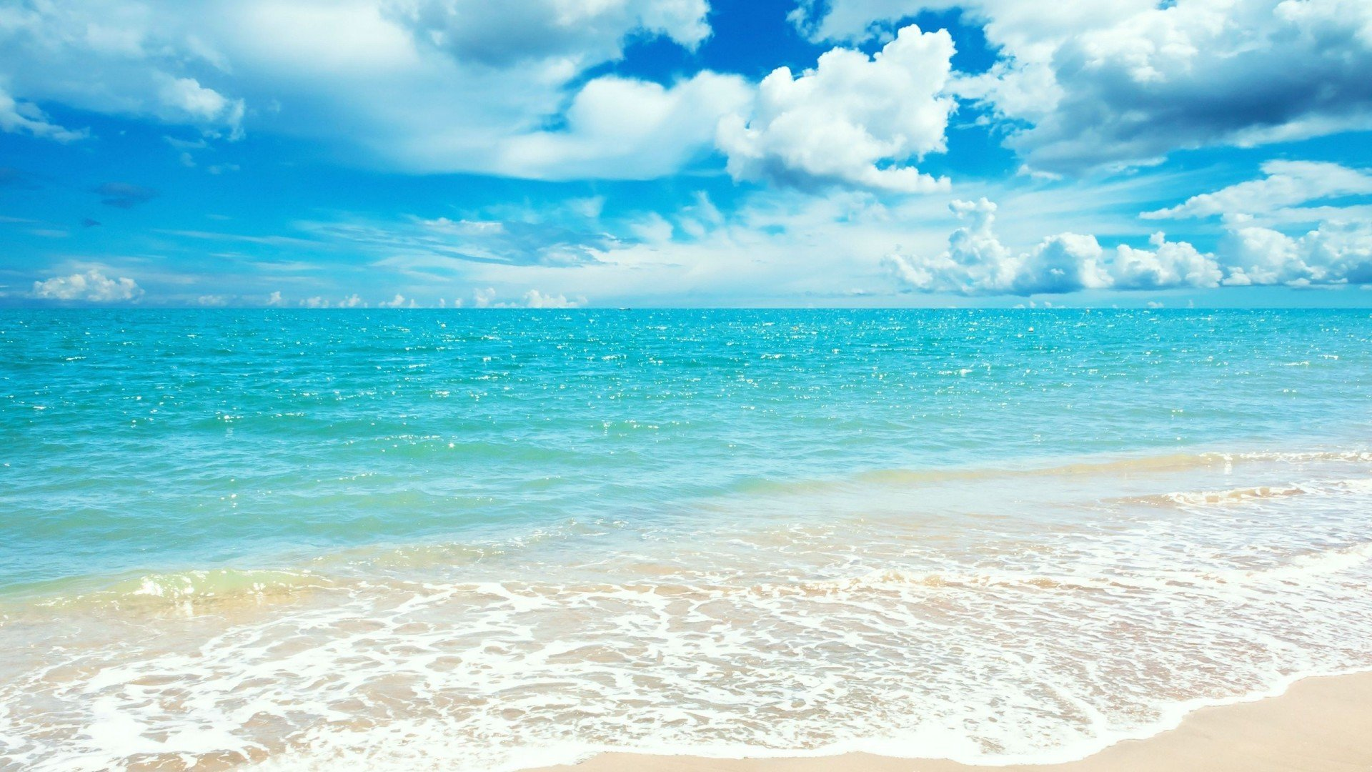 Summer beach background wallpapersafari for Beach wallpaper 1920x1080