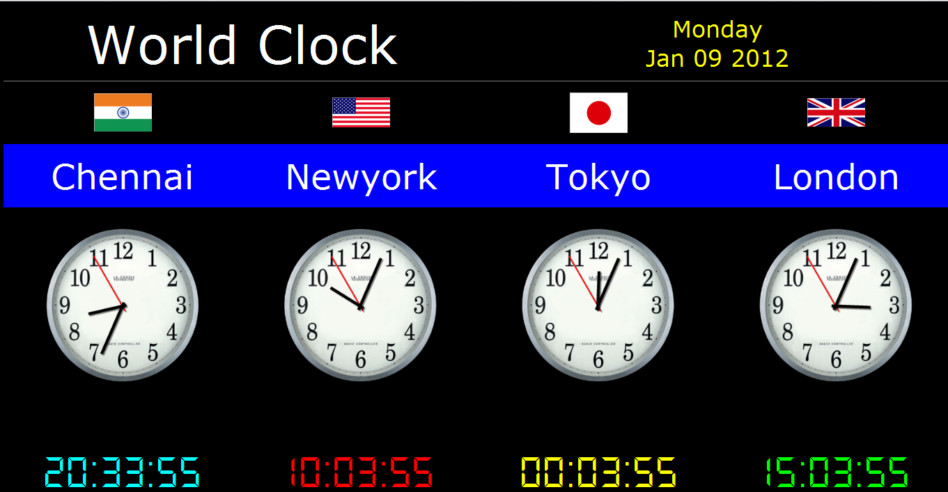Time Zone Clock Wallpaper Wallpapersafari